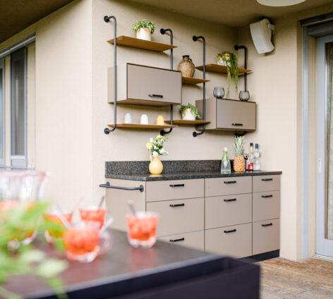 Outdoorküche auf Terrasse