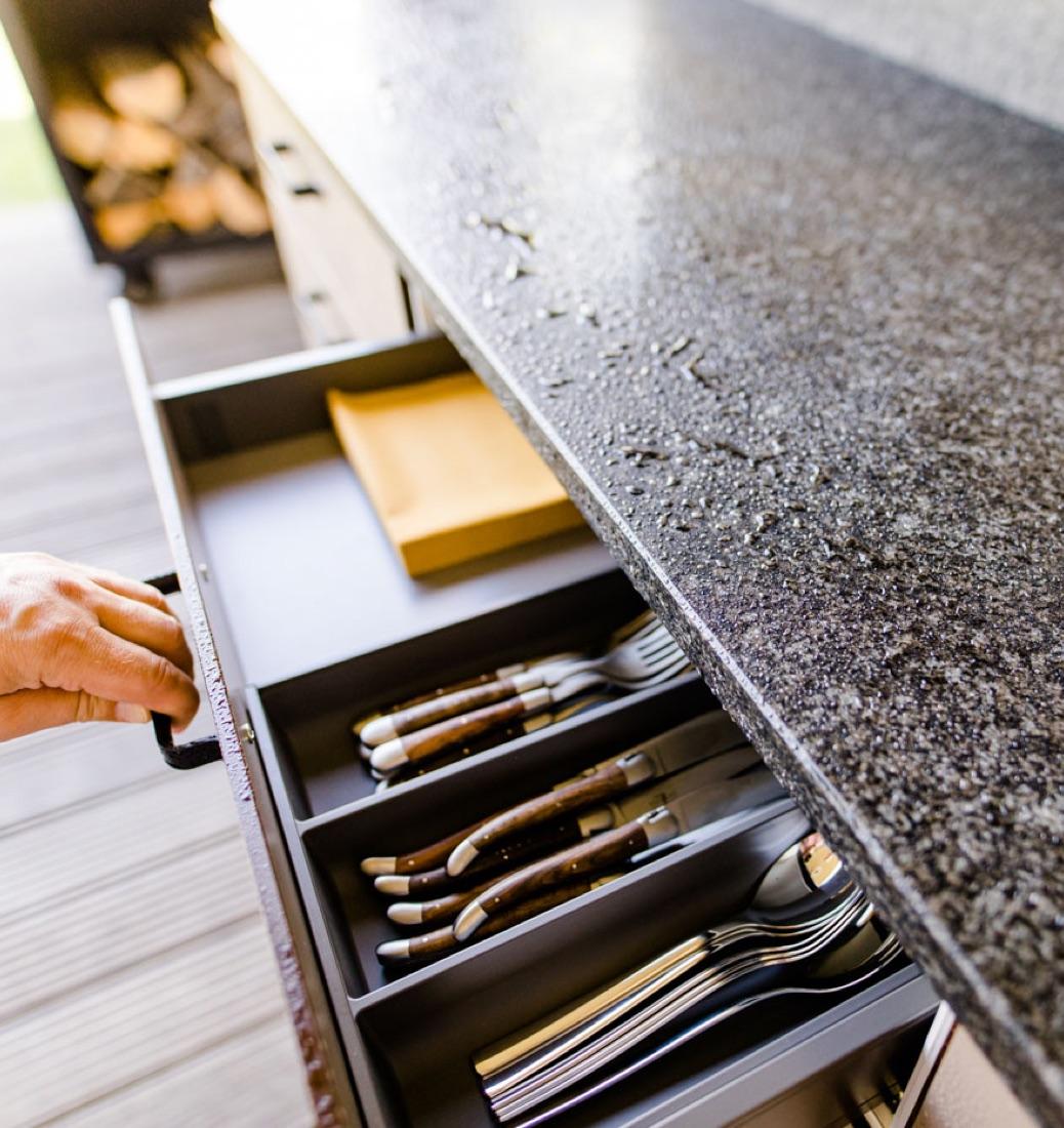 Besteckschublade Freiraumküche