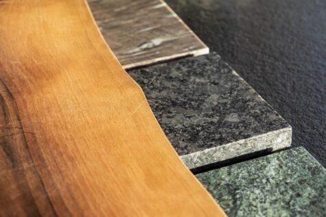 Natursteinmaterialien Außenküche